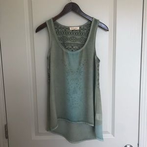 Tops - Green tank size small!